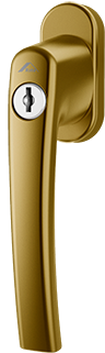 Klamka Roto Line Złoto z kluczykiem