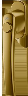 Klamka Roto Line Złoto z przyciskiem